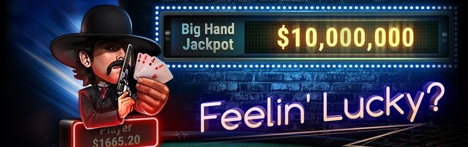 Play Hold'em and Omaha cash games and take a chance to Hit the Big Hand Jackpot by making one of the jackpot hands.