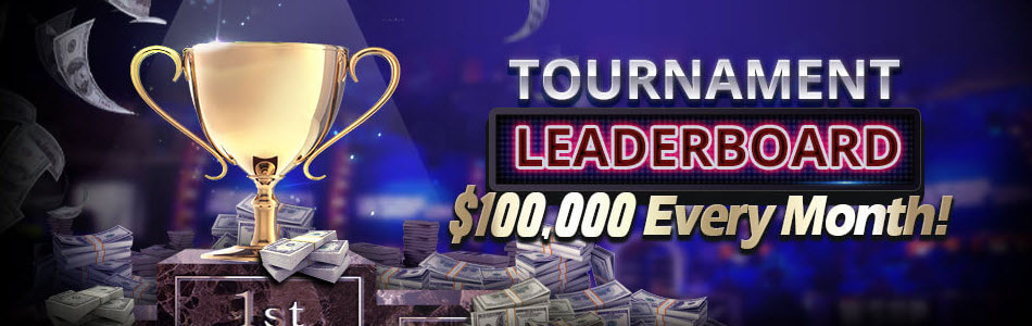 $100,000 given out every month to top 100 tournament players in the Network!