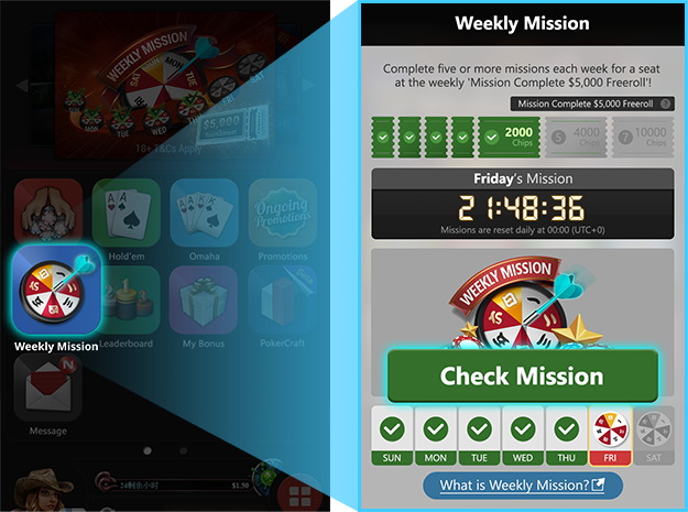 Check your Weekly Mission page, and open up your mission.