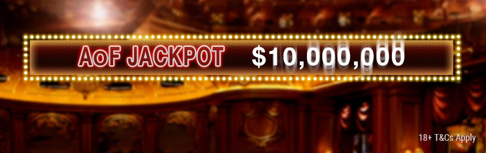 Play All-in or Fold games and take a chance to hit the AoF Jackpot!