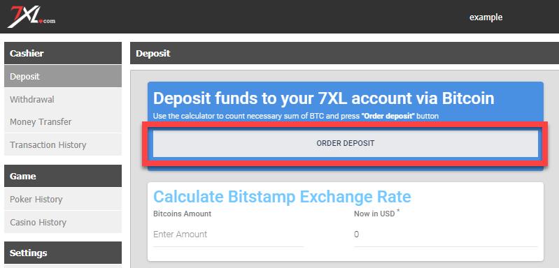 depozite în Bitcoins